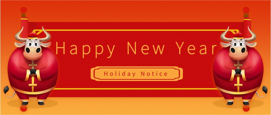 Happy New Year, holiday notice